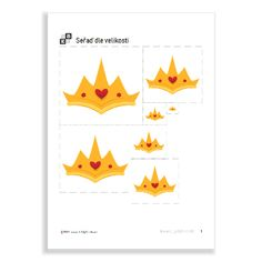 Size Sequencing of the serie Princesses. Printables, Crowns, Princesses, Print Templates, Princess, Crown, Crown Royal Bags
