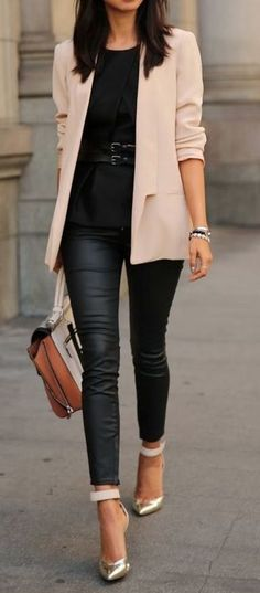 Ankle Pants with Classic Fall Blazer by VivaLuxury