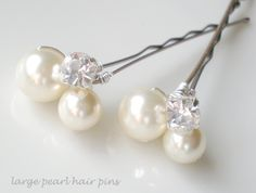 pearl bridal hair brooches - Google Search