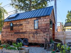 The Tipsy Tiny House: a tech savvy 180 sq ft tiny home in Seattle, designed by owner and architect, Chad Kuntz