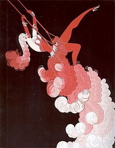 Erte  Love this one, I had an Aunt who had art copy like this and I was always memorized by it