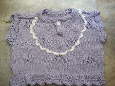 Crochet knit baby summer T-shirt/top