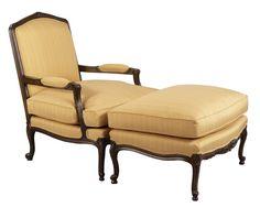 Louis J Solomon Louis XV Armchair & Ottoman Solomon, Outdoor Furniture, Outdoor Decor, Accent Chairs, Ottoman, Armchair, Traditional Styles, Interior, Homes
