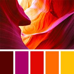 Palette Bright red, combined with fuchsia, will be appropriate when planning redecoration of a young lady's apartment. Bright yellow should be used for accents.In Color In Color or In Colour may refer to: Red Color Schemes, Red Colour Palette, Color Combos, Sunset Color Palette, Sunset Colors, Website Color Palette, Orange Palette, Pantone Colour Palettes, Paint Combinations