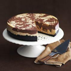 Peanut Butter Swirl Cheesecake - Recipe from Delish