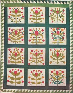 Album Quilt, 1855. New York. Looks like the Lollypop quilt. Wow!