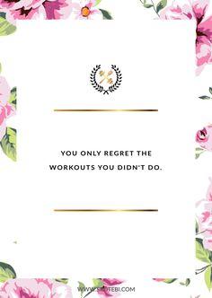Без сожалений!  Просмотрите нашу коллекцию вдохновляющих цитат тренировки и получить мгновенный фитнес и мотивацию потери веса.  Transform позитивные мысли в позитивные действия и получить нужным, здоровыми и счастливыми!  http://www.spotebi.com/workout-motivation/inspirational-workout-quote-no-regrets/
