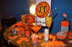 basketball themed table decorations   The Ticktin Bar Mitzvah Family Spotlight   MitzvahMarket