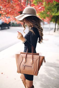 Celine luggage in tan