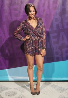 The Real Talk Show: Tamera is wearing Oh My Love London romper, Enzo Angiolini shoes, and Frey Wille USA accessories.
