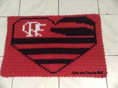 Tapete Time Futebol Flamengo Coração