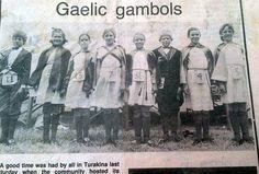 Irish jig dancers (Carol-Lyne Bryan n°4 and Kirsten Shayle-George n°5 - aged about 8 or 9) - Turakina co1984 - New Zealand
