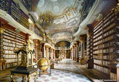 Nationalbibliothek Prag, picture from the series Libraries by Rafael Neff, artist of category CONTEMPORARY ART at photo art editions LUMAS Beautiful Library, Dream Library, Cozy Library, Library Books, Hagia Sophia, Semperoper Dresden, Beautiful Places, Most Beautiful, World Library