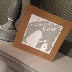 Papercut Easter card