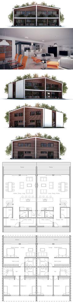 Duplex House Plan to Narrow lot