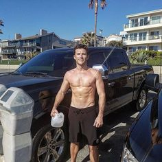 Pin for Later: 20 Shirtless Pictures of Scott Eastwood That Are So Sexy, You Might Never Recover When He Looked Better After a Sweaty Run Than You Do on a Fancy Night Out