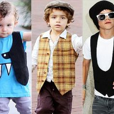 love the vests for little boys fashion!!
