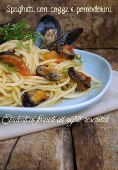 Spaghetti alle cozze con pomodorini freschi