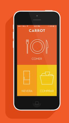 Carrot App by Device, via Behance