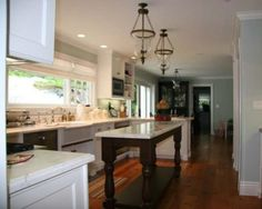 Kitchen, A Narrow Long Pedestal Kitchen Island What A Great & Gorgeous Picture Of Kitchen Islands Design To Choose: Gorgeous Picture of Kitchen Islands Design to Choose