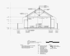 Contoh Gambar Potongan Rumah Minimalis menggunakan Autocad - Griya Bagus Engineering Technology, Civil Engineering, Steel Roofing, House Blueprints, Microsoft Excel, Autocad, Interior Architecture, House Plans, Floor Plans