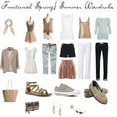 The functional spring/ summer wardrobe I created :)