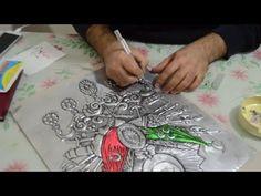 Folyo kabartma sanatı üzerine, her türlü resim, gravür, yazı, motif, hat yazıları, portre, vs. sipariş yapılır..! Folyo ve Kabartma sanatına gerekli tüm malz...