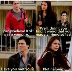 the vampire diaries damon salvatore and elena gilbert image Vampire Diaries Memes, Vampire Diaries Damon, Vampire Daries, Vampire Diaries Wallpaper, Vampire Diaries The Originals, Damon Salvatore, Paul Wesley, Funny Relationship Jokes, Better Relationship