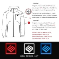 Heated Jacket for Men, Heating Hoodie Coat - Breathable Thermal Liner Heated by Portable Battery - for Climbing, Skiing, Hunting, Hiking, Riding, Outdoor Working Suit in Winter