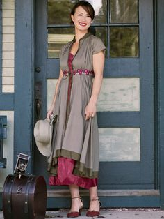 Carmine Ladies Dress | Ladies, Dresses :Beautiful Designs by April Cornell
