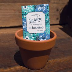 """""""To plant a garden is to believe in tomorrow"""" Stylish Seed Favor or gift, a great option for shower favors and for your friend with a green thumb! Would make a great wedding favor packet as well! Garden Seeds, Garden Plants, Cut Flowers, Dried Flowers, Forget Me Not Seeds, Adventure Gifts, Seed Packets, Tiffany Blue, Shower Favors"""