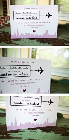 travel themed bridal shower invitations diy - Bing Images