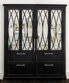 Antiqued Mirrored Refrigerator Doors