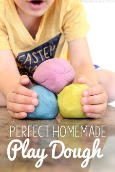 No need to ever buy another can of store play dough again- this homemade recipe gets it right!