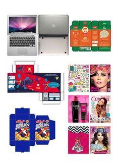 Mini embalagens para boneca Barbie, Monster High etc: