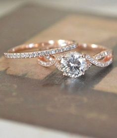 Rose Gold Twisted Engagement Ring Setting / http://www.deerpearlflowers.com/twisted-engagement-rings-wedding-rings/ #Goldjewelrywedding