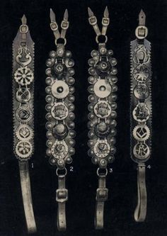 carriage brasses  I love these and own a few.  I know its not human fashion but still!!