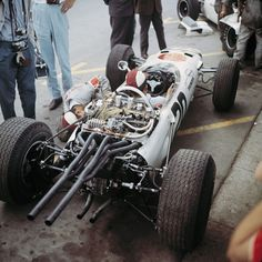 Richie Ginther's Honda at the 1965 Monaco Grand Prix