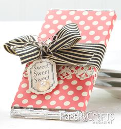 Quick Gift: Sweet, Sweet Candy Wrap - Paper Crafts Connection