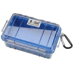 Pelican 1050026100 Small Case with Clear Lid and Carabineer Blue -- Continue to the product at the image link.