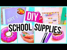 DIY | Emoji Back To School Supplies - Notebooks, Pencil Holder & Bookmark…