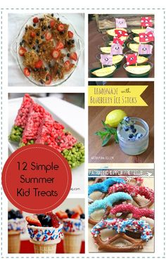 12 Simple and Fun Summer Snacks