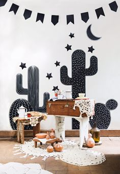 Inspired by the scenario created by Anna Chedid and Zilah Rodrigues for . Wild West Theme, Wild West Party, Western Parties, Happy Party, Diy Party Decorations, Diy Wall Art, Baby Birthday, Party Time, Cowboy Theme