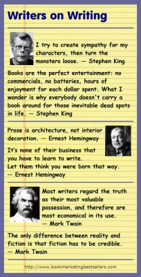 Writers on Writing: Stephen King, Ernest Hemingway, and Mark Twain