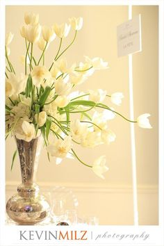 Beautiful French Tulips that we provided for La Fete Weddings & Events booth at The Carolina Inn Bridal Show 2012!!