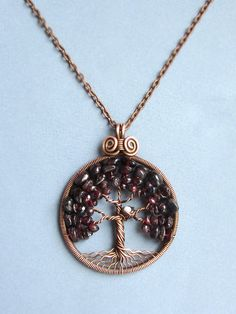 Bird nest Tree of life pendant Family tree Copper Jewelry by MagicWire