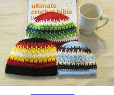 Free pattern with earflap options and a lot of sizes.