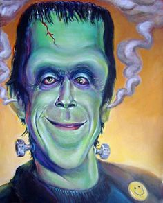 Caricature of Fred Gwynn as Herman Munster Cartoon Faces, Funny Faces, Cartoon Art, Cartoon Characters, Funny Caricatures, Celebrity Caricatures, Creepy Pictures, Funny Pictures, Strange Pictures