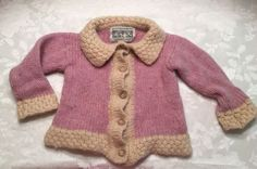 Girl Size 3T 4T Cardigan Sweater Cable Knit Winter Pink ARAN MARKET Ireland | eBay