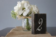 Rustic Wood Table Numbers, Shabby Chic Wedding Decor Set of 13. $60.00, via Etsy.